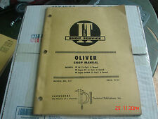 ORIGINAL OLIVER SUPER 99 & 99GM  TRACTOR I & T SERVICE REPAIR MANUAL
