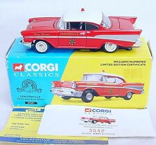 "Corgi Toys Classics 1:43 CHEVROLET BELL AIR ""CENTERVILLE"" FIRE CHIEF Car MIB`95!"