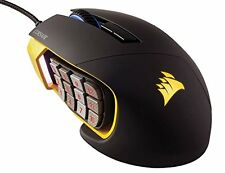 Corsair Gaming Mouse SCIMITAR RGB MOBA/MMO 12000DPI mechanical Button Yellow NEW