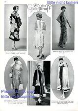 Für die Gesellschaft XL Seite mit Fotoabb. 1925 20er Jahre Mode Kleid Abendkleid