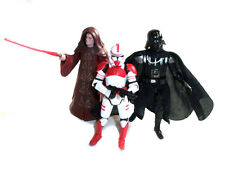 STAR WARS Clone Wars Set 3 VADER, PALPATINE & SHOCKTROOPER toy figures set lot