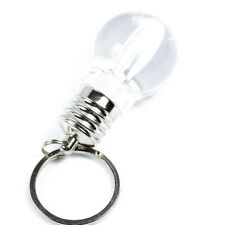 New Lovely Clear LED Light Lamp Bulb Keychain Silver