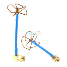 2PCS FPV 5.8Ghz Circular Polarized 3 Clover Leaf Antenna With RP-SMA Plug TX RX