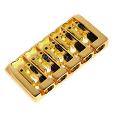Gold Plated 5 String Bass Guitar Bridge Square Saddle Parts String Spacing 19mm