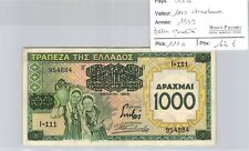 BILLET GRECE - 1000 DRACHMES - 1939 - BELLE QUALITÉ !
