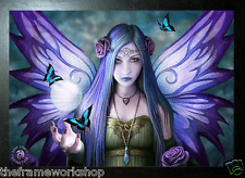 ANNE STOKES BLACK FRAMED FAIRY MYSTIC AURA - 3D PICTURE 300 x 400mm