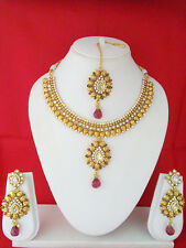 Indian Fashion Jewelry New Necklace Set Bollywood Ethnic Gold Plated Traditional