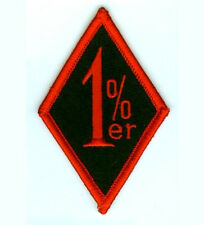 BIKER 1%er MOTORCYCLE GANG OUTLAW MC RIDER RED OUTLAW ONE PERCENTER RIDER PATCH