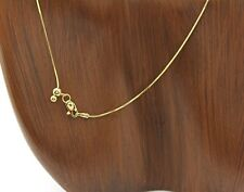 Adjustable Snake Chain in 14k Solid Gold 12 - 24 in Easyjust Slide Clasp Chain