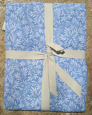 """WILLIAMS SONOMA ~ SCROLL FLORAL TABLECLOTH BLUE ~ 70"""" X 90"""" ~ LINENS POTTERY B"""