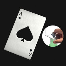 New 1Pcs Stainless Steel Playing Card Ace of Spades Poker Soda Beer Cap Opener