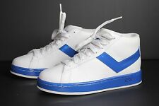 PONY TOP STAR MID White Electric Blue Athletic Sneakers MB011WZW - Us Size 7.5