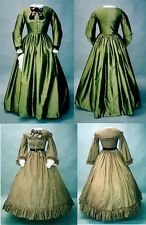 Ladies Early 1860's Day Dress 6-26 Civil War Laughing Moon Costume Pattern 111