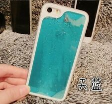 Kolorfish Glow in Dark Running Sand Liquid Hard Cover Case For iPhone 5 5S--Blue