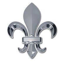 Fleur-de-Lis 3-D Chrome Auto Emblem Louisiana Saints