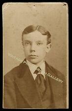 Antique CDV Photo ID'd Young Man Edward B Aiken Bushby & Hart Studio Lynn Mass