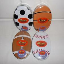 Reeses Milk Chocolate Peanut Butter Cups in Collectible Football Basketball Tins