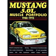 Ford Mustang 5.0L Muscle Portfolio 1982-1993 book paper