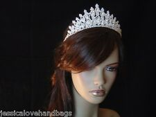 UK SELLER - Quality Crystal Bridal Tiara Crown - Weddings, Proms, Gifts #sj1839A