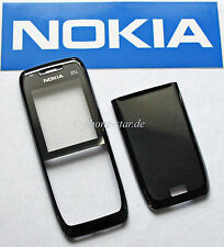 ORIGINAL NOKIA E51 A-COVER FRONT AKKUDECKEL BACKCOVER HOUSING FASCIA BLACK STEEL