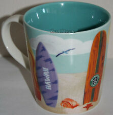 NEW Starbucks Hawaii Coffee Tea KIDS Mug Cup OCEAN TURTLE SURFBOARD SURF 10 OZ.