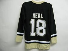 James Neal Penguins NHL Men's Replica Solid Black Jersey Size Small 34/36 $40