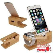 2in1 Wood Stand Holder Charging Dock For Apple Watch iWatch 2 iPhone 6S 7 Plus