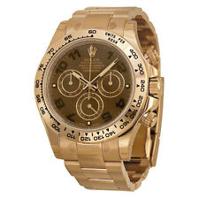 Rolex Daytona Chronograph Automatic Chocolate Dial 18kt Everose Gold Mens Watch
