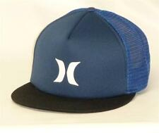 Hurley Color Block Multi Blue Mens Trucker Hat Cap Adjustable One Size NWT