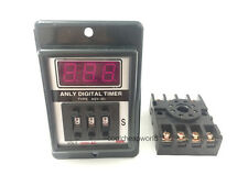 ASY-3D 1-999s DC 12V Power On Delay Timer Digital Time Relay 8 Pin with Base