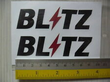2 JDM BLITZ di-cut sponsor aftermarket sticker decals, BLACK.