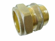 28mm Compression x 1 Inch BSP Male Iron Adaptor / Coupler | Brass Fitting