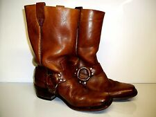 Wrangler Mens Leather Square Toe Harness Biker/Motorcycle Work Boots sz 8.5D