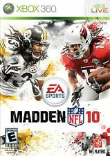 XBOX 360 Madden NFL 10 Video Game Online Footballl Tournament Multiplayer 2010