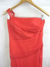 Studibaker Size 8 Coral Red Designer Evening Gown Formal Dress