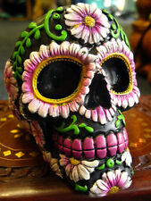 SUGAR SKULL ASHTRAY FIGURE Ornament MEXICAN Day of the Dead GOTHIC PAGAN 11cm