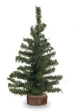 6 inch Green Artificial Pine CHRISTMAS Tree with Wood Base Miniature Craft NEW