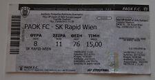 OLD TICKET EL PAOK Thessaloniki Greece Rapid Wien Austria
