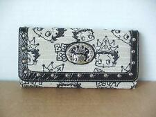 BETTY BOOP TRI-FOLD WALLET #001 CROWN DESIGN BLACK