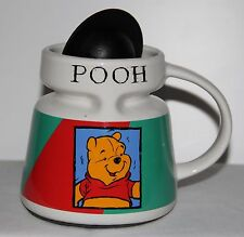 Disney Store Winnie The Pooh Travel Coffee Cup Mug w Lid Non Skid / Spill Bottom