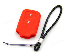 Red Silicone Case Cover For Honda Fit Odyssey Vezel Remote Smart Key 2 Button 3