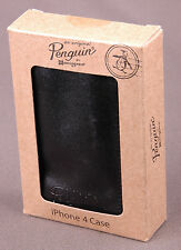 Penguin iPhone 4 Case-Brown Leather