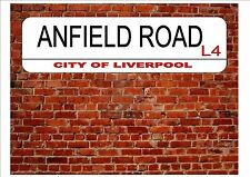 Liverpool Anfield Road Novelty Street Metal Sign Football Fans Gift