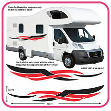 Motorhome Vinyl Graphics Stickers Decals Camper Van RV Caravan Horsebox mh4a