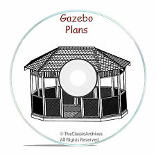 GAZEBO PLAN DESIGN MEGA PACK, 13 DIFFERENT DESIGNS! CRAFT PATTERN BUILDING