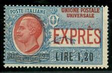 ITALIA - Regno - Espresso - 1921 - Franc. del 1908 1,20 cent. su 30 cent. azz.