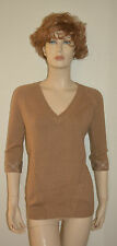 NWT BURBERRY WOMENS $495 NOVA CHECK CASHMERE  SWEATER SZ M