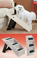 Portable Pet Folding Steps Dog Stairs Convertible Puppy Ramp Bed Ladder Plastic