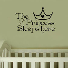Princess Wall Stickers Sleeps Here Home Decoration Art Decor Fashion Sticker Hot