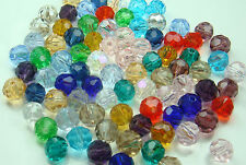 Wholesale DIY 100pcs Faceted Round jewelry exquisite luster Crystals 4mm Beads q